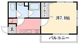 ロクサーヌ浜甲子園[1階]の間取り