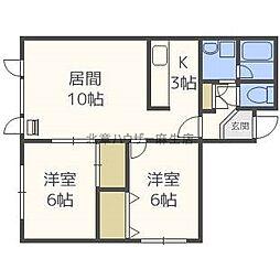 ガーデンハウスA[1階]の間取り
