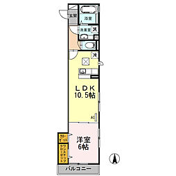 セジュール武蔵新城[1階]の間取り