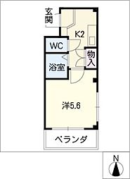 ホープ堀田パートII[2階]の間取り