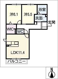 仮)JA賃貸港区茶屋新田土地区[2階]の間取り