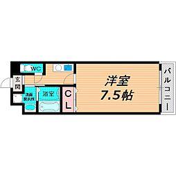 Osaka Metro谷町線 千林大宮駅 徒歩6分の賃貸マンション 2階1Kの間取り