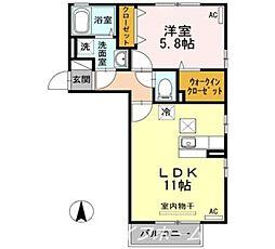 サニープレイス  A棟[1階]の間取り