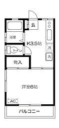 東京都府中市府中町3丁目の賃貸アパートの間取り