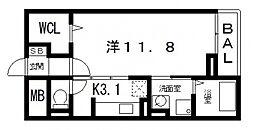 セレノアロッジオVII[203号室号室]の間取り