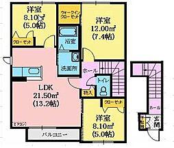 シャーメゾントミーA[1階]の間取り