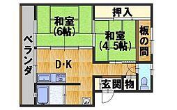 京都ハウス[4階]の間取り