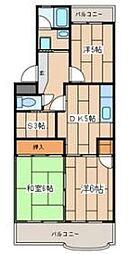 神奈川県相模原市中央区富士見6丁目の賃貸マンションの間取り