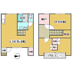 [テラスハウス] 広島県福山市手城町3丁目 の賃貸【/】の間取り