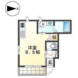 ルミハウス[1階]の間取り