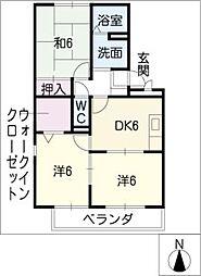 コンフォ−ト結城の森[1階]の間取り