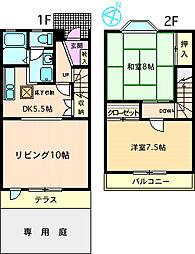 [テラスハウス] 神奈川県相模原市南区上鶴間本町8丁目 の賃貸【/】の間取り