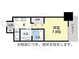 エステムコート名古屋今池アーバンゲート 5階1Kの間取り