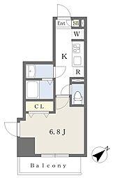 東京メトロ有楽町線 要町駅 徒歩11分の賃貸マンション 7階1Kの間取り