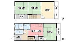 [テラスハウス] 兵庫県西宮市今津大東町 の賃貸【兵庫県 / 西宮市】の間取り