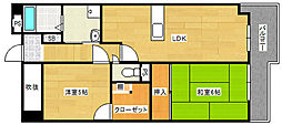 ロイヤル住吉清水丘[4階]の間取り