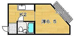 エムケイ8 牧野ハイツ[2階]の間取り