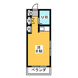 ガーデンハイツ八事石坂[2階]の間取り