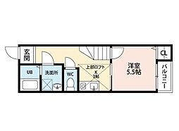 福岡県北九州市小倉南区田原2丁目の賃貸アパートの間取り