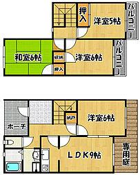 兵庫県神戸市西区今寺の賃貸アパートの間取り
