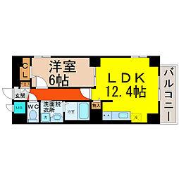 愛知県名古屋市東区橦木町3丁目の賃貸マンションの間取り
