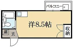 三宅アパートB棟[1階]の間取り