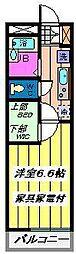 埼玉県さいたま市見沼区東大宮2丁目の賃貸マンションの間取り