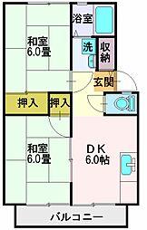 嶋田ハイツA棟[201号室]の間取り