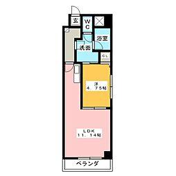 サウスコート[1階]の間取り