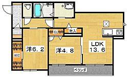 RESIDENCE KURAJI[1階]の間取り