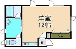 北海道小樽市桂岡町の賃貸アパートの間取り