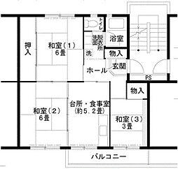 UR泉北茶山台2丁[4階]の間取り