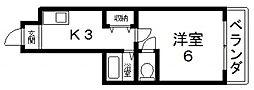 大宝若江岩田CTスクエア[403号室号室]の間取り