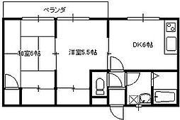 メゾン武井II[103号室]の間取り