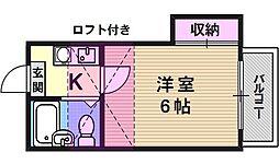 クリスタ山科[201号室号室]の間取り