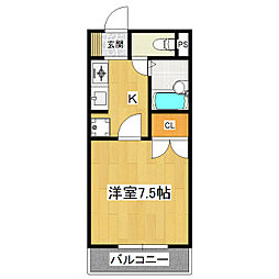 茨城県つくば市苅間の賃貸アパートの間取り