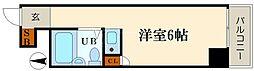 ラパンジール恵美須4[3階]の間取り