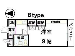 イーストガーデン金沢[302号室]の間取り