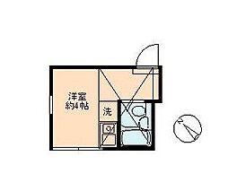 東京都大田区南六郷2丁目の賃貸アパートの間取り