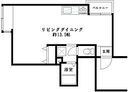 三軒茶屋竹風館[1階]の間取り