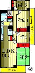 パーク・ノヴァ北小金[4階]の間取り