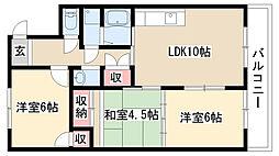 愛知県名古屋市緑区桃山2丁目の賃貸マンションの間取り