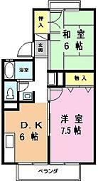 セジュール松井[1階]の間取り