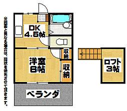 ドエル・ミツバ緑ヶ丘B棟[2階]の間取り