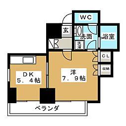 桂山サコウハイツYON[6階]の間取り
