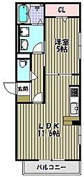 セレナーデB棟[3階]の間取り