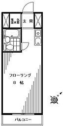 東京都目黒区東山3丁目の賃貸マンションの間取り
