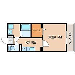 静岡鉄道静岡清水線 新清水駅 徒歩9分の賃貸マンション 1階1Kの間取り