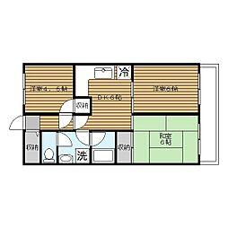 洋光台田中マンション[3階]の間取り