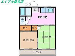 三重県桑名市明正町の賃貸アパートの間取り